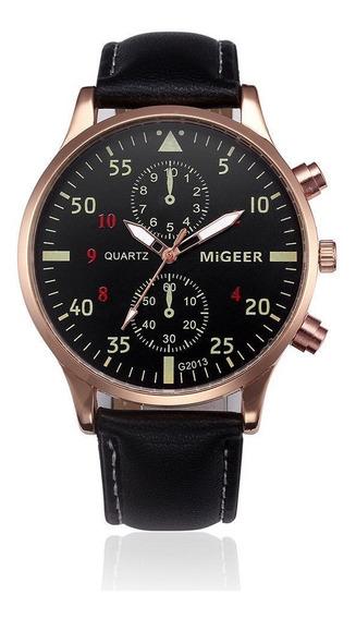 Relógio Analógico Migeer Pilot Aviator 40mm Quartzo