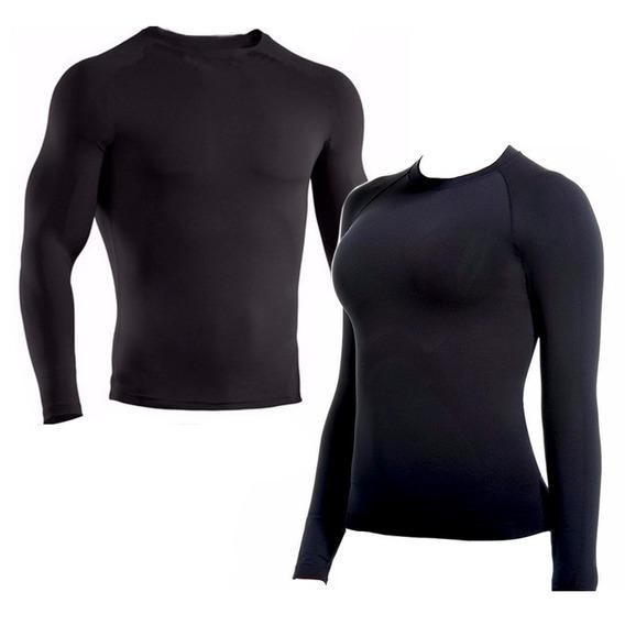 Camisa Térmica Segunda Pele Manga Longa Com Proteção Uv 50+