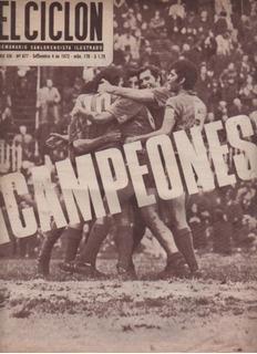 Antigua Revista * El Ciclon * San Lorenzo Campèon 1972