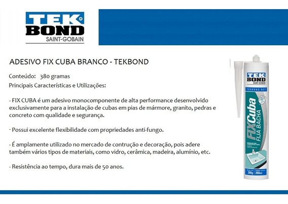 Adesivo Fix Cuba 380g * Tekbond