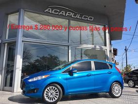 Ford Fiesta Titanium Automatico 2015 / $ 280000 Y Cuotas /