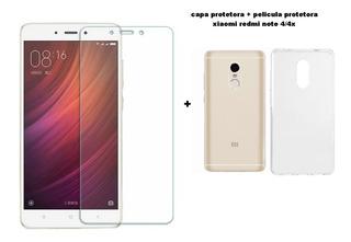 Capa Protetora Transparente Xiaomi Redmi Note 4/4x +pelicula