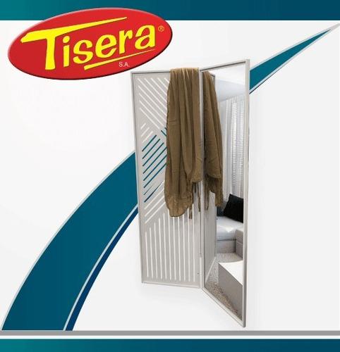 Imagen 1 de 6 de Biombo Metalico Blanco Divisor Ambientes Espejo Tisera Bio-1