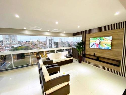 Apartamento Mobiliado 163m² 3 Suites 4 Vagas + Depósito