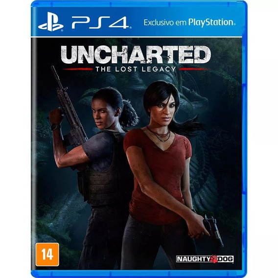 Jogo Uncharted The Lost Legacy - Mídia Física Blu-ray - Ps4