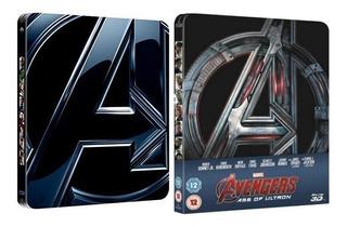 Avengers Y Avengers Age Of Ultron Blu Ray 2d + 3d Steelbooks