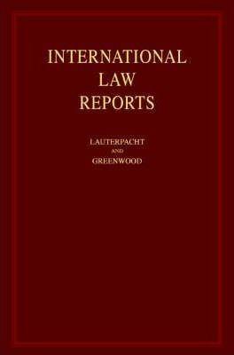 International Law Reports 160 Volume Hardback Set: Volume...