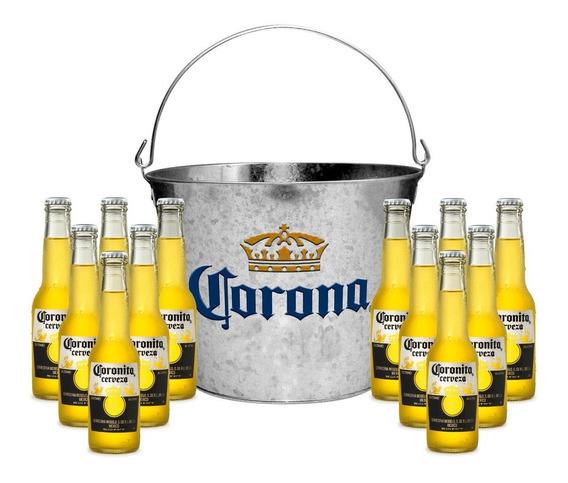 Cerveza Coronita 210 Cc Pack X 12 Unidades + Balde