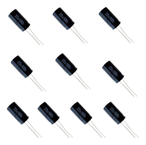 Imagem 1 de 1 de Kit 10 Capacitores Para Driver Profissional (22x250)