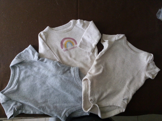 Set 3 Bodys - Mono Para Bebe 0 N/b Meses Gymboree - Usado