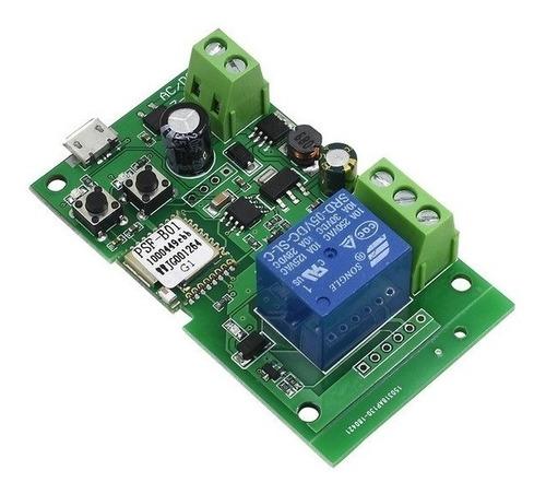 Imagem 1 de 6 de Sonoff Wifi Módulo Relé Dc5v-12v-32v Função Pulso E Travado