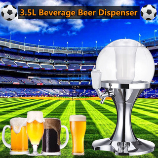 3.5 L Cerveza Dispensador De Bebidas Máquina Plateada Núcl