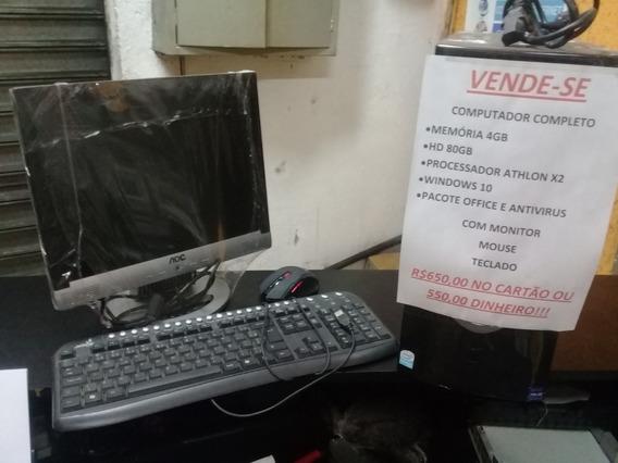 Computador Montado Completo, Monitor, Mouse E Teclado