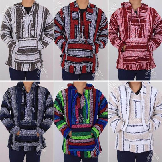 Lote De 6 Chamarra Poncho Suéter De Jerga Artesanal