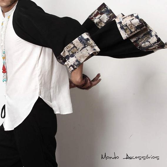 Kimono Cardigan Mosaico Hip Hop Trench Japonês Frete Grátis