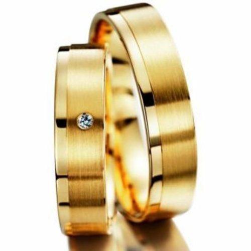 Alianças De Ouro 18k Noivado + Diamantes Na Feminina Al07vj