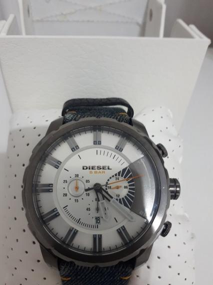 Relógio Diesel Masculino Dz4345 Usado Couro Preto