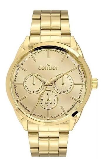 Relógio Condor Feminino Ref: Co6p29jk/4d Multifunção Dourado