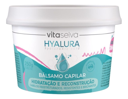 Imagem 1 de 6 de Bálsamo Ácido Hialurônico Hyalura 250g Lançamento Vita Seiva
