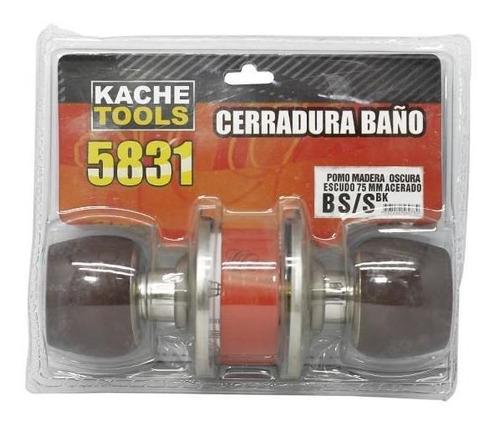 Cerradura Ba?o 5831 B S/s Bk Escudo Color Acero Kache Tools