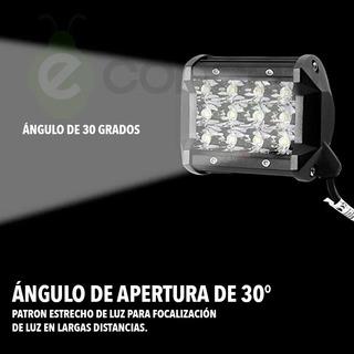 Faro Auxiliar 36w 12 Leds Cree Para Moto Enduro O De Calle