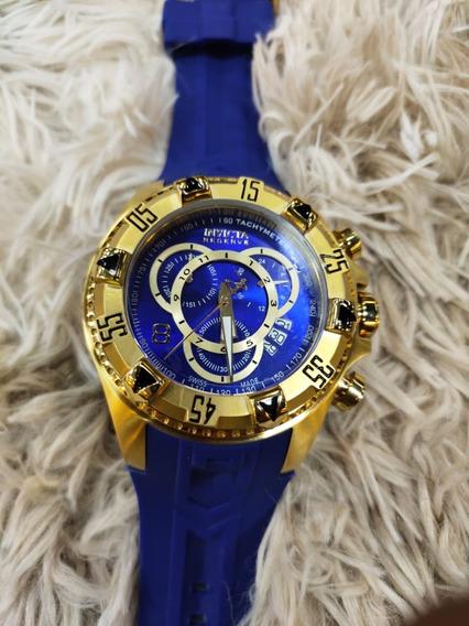 Relógio Invicta Excursion 6425 Dourado E Azul