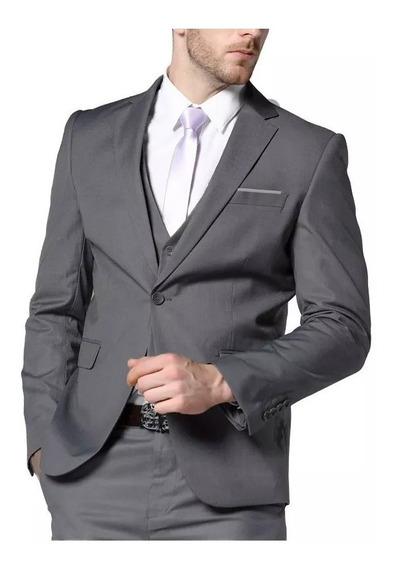 Blazer+calça+colete - Oxford- Slim Fit- Corte Italiano