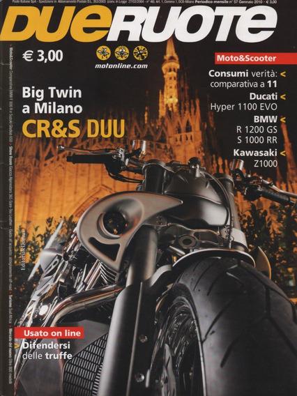 Dueruote N°57 Bmw R1200gs S1000rr Kawasaki Z1000 Ducati Evo