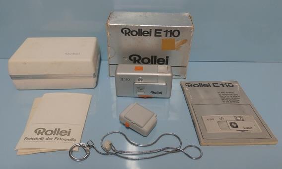 Máquina Fotográfica Rollei E 110 De Bolso Alemã 1979 Coleção