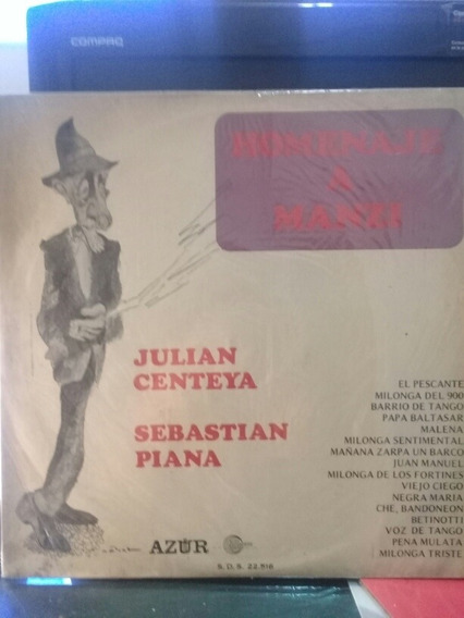 Disco Homenaje A Manzi Por Julián Centeya Y Sebastián Piana.