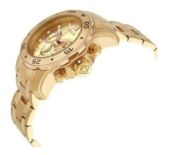 Relógio Invicta Pro Diver 80071 Banhado Ouro 18k Original
