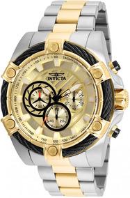 Relógio Invicta Bolt 25518 Prateado C/dourado Original C/ Nf