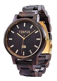 Tempus Classico - Reloj De Pulsera De Madera Para Hombre De