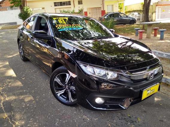 Honda Civic Exl Aut. 2.0 Flex 2018 Preto Top De Linha!!