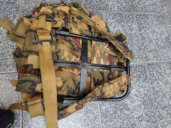 Bolso Mochila Morral Militar Con Soporte Para La Espalda