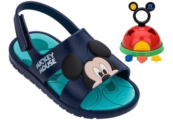 Sandália Infantil Masculino Mickey Grendene Kids 21996 Acompanha Brinde