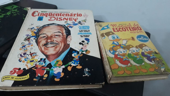 Cinquentenário Disney E Manual Do Escoteiro Antigos No Estad