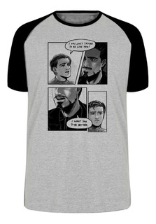 Camiseta Luxo Tony Stark Peter Parker Quadrinhos Hq Marvel