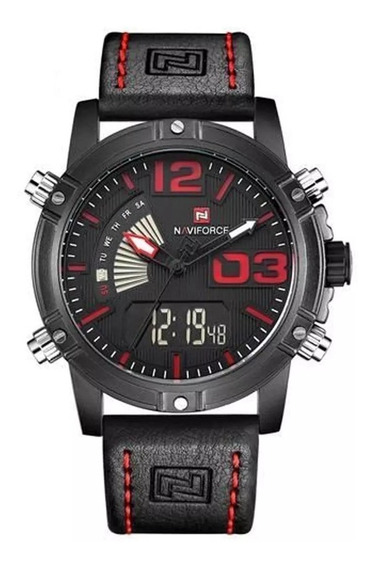 Relógio Naviforce 9095 Masculino Original Pulseira De Couro