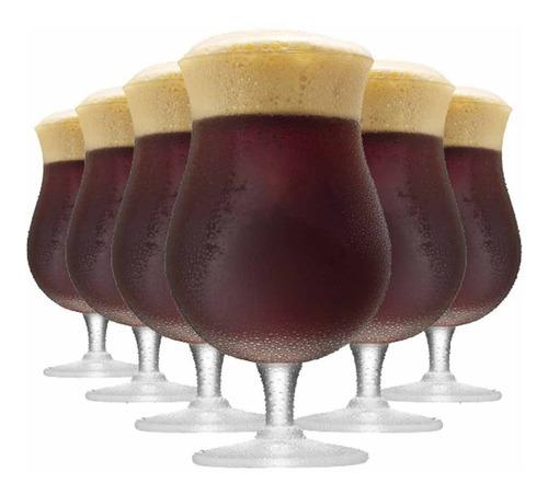 Imagem 1 de 3 de Jogo Taça Ritzenhoff Cerveja Double Bock Cristal 645ml 6 Pcs