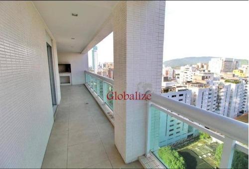 Apartamento Com 3 Dormitórios À Venda, 158 M² Por R$ 1.799.000,00 - Aparecida - Santos/sp - Ap0534