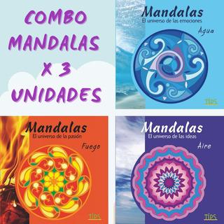 Combo 3 Libros De Mandalas Para Colorear. Oferta!