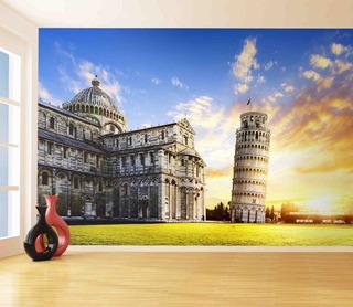 Papel De Parede Pontos Turisticos Torre De Pisa 9,5m² Ntr35