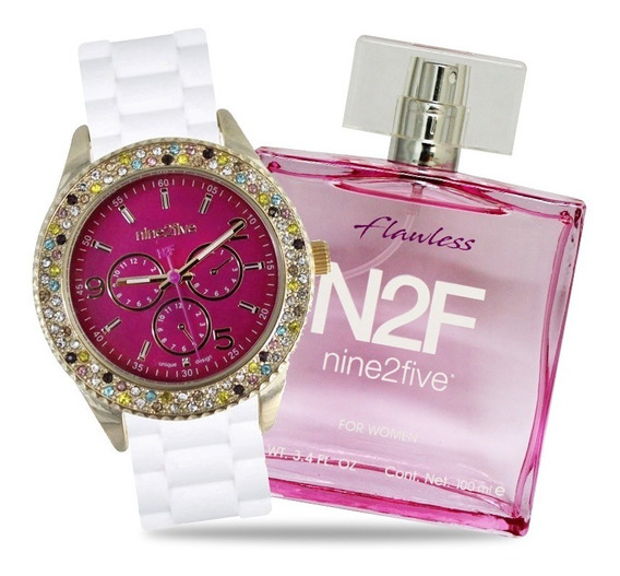 Set Para Mujer De Reloj Y Perfume Flawless - Nine2five