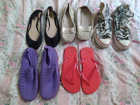 Lote 5 Pares De Zapatos/zapatillas Talle 36/37