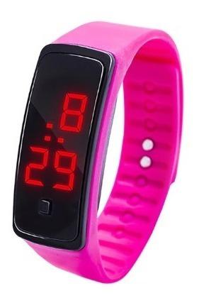 Bracelete Relógio Masculino Feminino Digital Led Barato