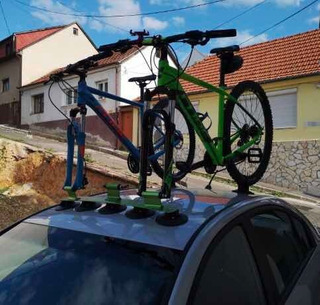 Rack De Succión Para Tres Bicicletas