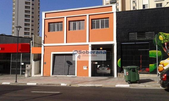 Salão Para Alugar, 260 M² Por R$ 6.000,00/mês - Centro - Campinas/sp - Sl0253