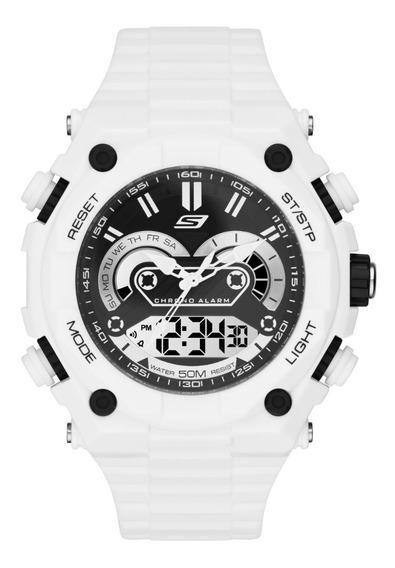 Reloj Caballero Skechers El Segundo Sr1041 Color Blanco