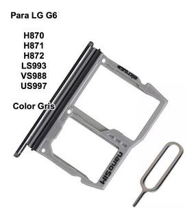 Bandeja Sim Card + Sd LG G6 H870 H871 H872 Ls993 Vs988 Us997